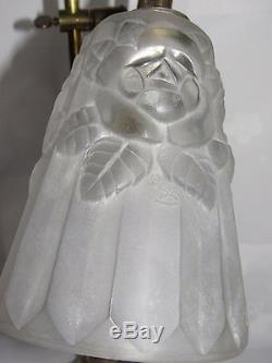 08d5 Old Lamp Adjustable Office Art Deco Tulip Glass Mold Sign Degue
