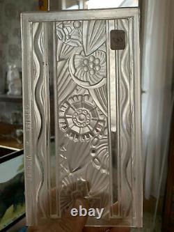 3 Glass Plates Art Deco Signed Hettier-vincent-art Deco