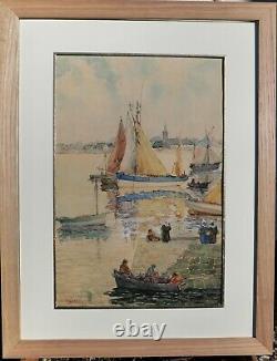 Agostini, Britain, Drawing, Painting, Sea, Ship, Fishing, Harbor, Tuna, Pont-aven
