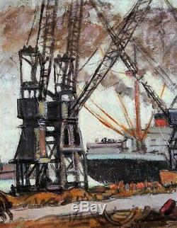 Albert Copious, Le Havre, Chart, Painting, Boats, Sea, Harbor, Seascape