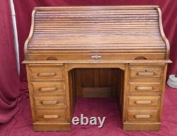 American Bureau (french-american) With 20th Cylinder Signed Charles Delaunay Paris