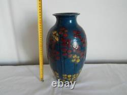 Ancien Grand Vase Art Deco Emile Simonod Glazed Ceramics Savoie Signed Sispa