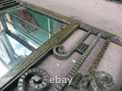 Art Coat Art Deco Wrought Iron Mirror Signed J Hénin