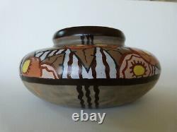 Art Deco Ceramic Vase Signed By Louis Dage Era Keramis Charles Catteau