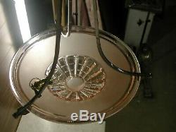Art Deco Chandeliers With Basin Rose Sevb Signed And Delmas Montauban 282