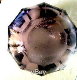 Art Deco Decor Purple Glass Vase Glass Money Sign Circa 1930