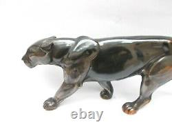 Art Deco Elegant Panther In Marche. Art Deco. 44 CM Model Of A. Ouline