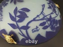 Art Deco Glass Paste Chandelier, Signed Yvon