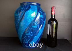 Art Deco Glazed Stoneware Vase Signed Raoul Lachenal Single Piece (1885-1956)