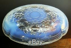 Art Deco Grand Cup Oval Fruit A Glass Mold Opalescent Julien France Sign