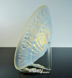 Art Deco Grand View A Glass Fruit Mold Opalescent Verlys Sabino France Sign