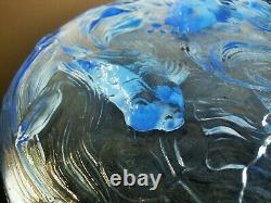 Art Deco Large Cup Glass Mould Japanese Fish Era Sabino Verlys Sign