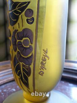 Art Deco Large Vase Signed By Argyl