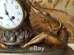 Art Deco Sculpture By Jacques Limousin Women Pendulum