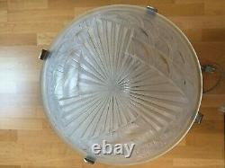 Art Deco Silver Bronze Glass Lamp Signed Signed And Numbered 1930