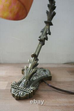Art Deco Table Lamp Signed Daum Glass Pasta