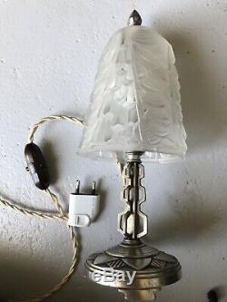 Art Deco Tulip Lamp Not Signed French Lamp Diffuser Muller Degue Daum Luster