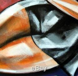 Art Deco-little Black Dress-cubism-table Original Painting / Acrylic / Oil /