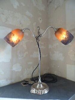 Art Nouveau Lamp, Art Deco Tulip By Degue. Arts And Crafts, Schneider Daum