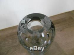 Authentic Unusual Glass Vase Deco Art By Jean Luce