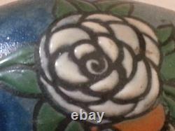 Beautiful Art Deco Vase In Enamelled Glass Paste Signed Delatte Nancy