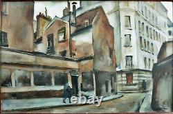 Beautiful Old Table Rue De Paris Animated Art Deco Winter Cesar Bron Vlaminck