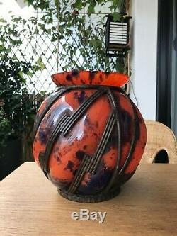 Big Ball Vase Art Deco 30 (daum Nancy Majorelle) Unsigned In The State