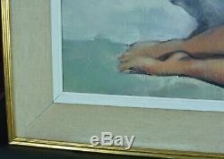 Big Picture Former Erotic Nude Portrait Cesar Vilot Art Deco Hst