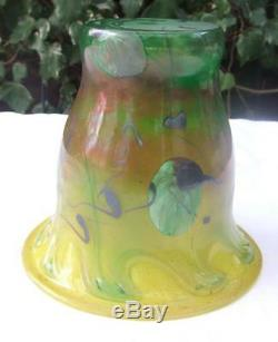 Blown Glass Vase With Decoration Of Inclusions Signed J. P. Mateus Art Glass Decoration
