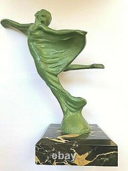 Bronze By Max Le Verrier Flying Art Deco Mascot