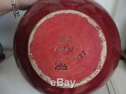 Cab Very Large Vase Art Deco Signed Gete (bordeaux)