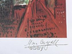 Chagall Marc (after) Carmen Lithography Numbered And Signed, 500ex