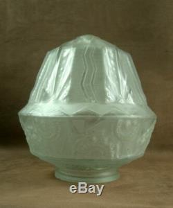 Chandelier Art Deco Glass Shell Mold Press Sign Muller Freres Luneville
