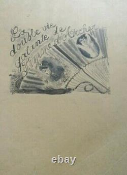 Chas Laborde Painter Montmartre Drawing Original Ink Illustration Circa 1920