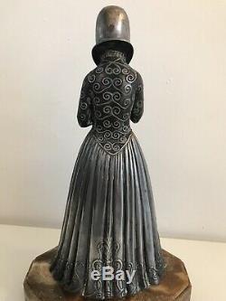 Chryséléphantine Sculpture Signed D. H. Chiparus Woman Art Deco