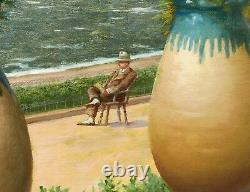 Clapisson Belgian Painting Oil Landscape MIDI Côte D'azur View Cannes Nice Riviera