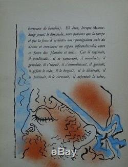 Cocteau Jean Portrait Of Mounet Sully 16 Gouache Original Drawings # 1945