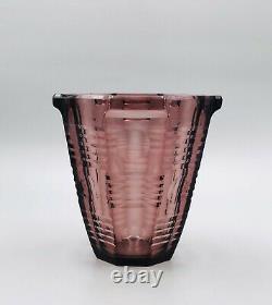 Crystal Vase Czech Art Deco Art Glass Moser Bohemia Signed Czechoslovakia
