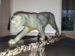 D. H Chiparus Sculpture Art Deco Panther