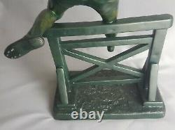 D. H Chiparus Sculpture Art Deco Sportsman At Jump Of Hedges Olympic Games 1920