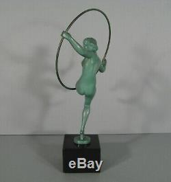 Dancer Naked Sculpture Ancient Art Deco Signed Briand Max Le Verrier