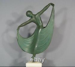 Dancer Woman Sculpture Art Deco Regulates Signed Gilbert Statue Louise Brooks