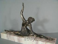Dancer Years Folles Ancient Sculpture Art Deco Silver Bronze Signed Morante