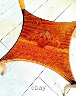 Decordon-table-emile Gallé-art Nouveau-fleuri-signed-decor Japonisant-xx