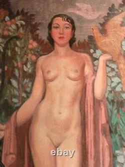 Diane, Oil On Typical Web From The 1930s/50s