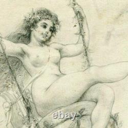 Drawing With Period Pencil 19th Century Léon-b Dehaisne (act. C. 1888)