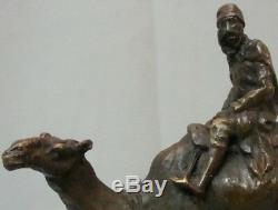Dromedary Camel Touareg Statue Style Art Deco Style Art Nouveau Solid Bronze