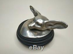 Edouard Marcel Sandoz Fennec Lying At The Head Lifted Bronze Susse Frères Ed. Signed