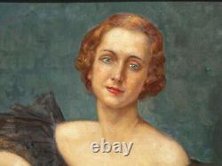 Elegant Art Deco Portrait 1935, Lucien Jonas