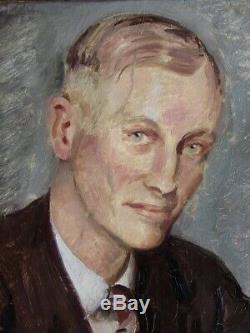 F. Haas. F 1943. Big Man On Portrait Elegantly Dressed. German School